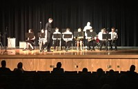 Students performing in Pops Concert 1