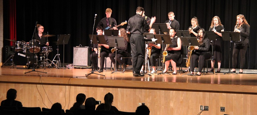 students performing in pops concert