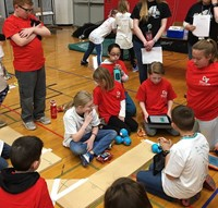 students taking part in robo rave competition 20