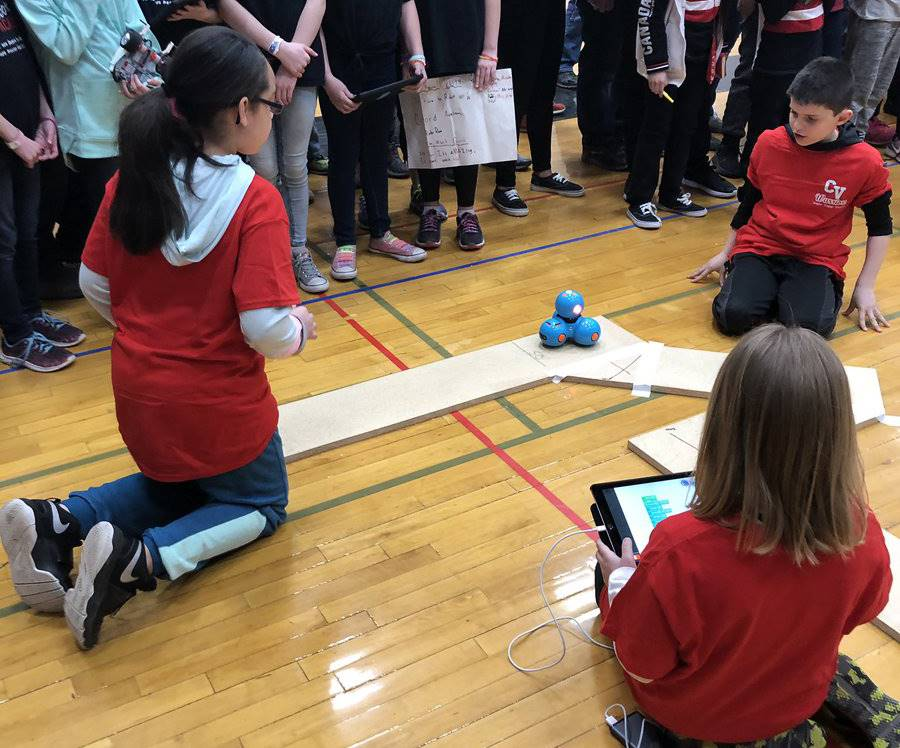 students taking part in robo rave competition 16