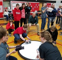 students taking part in robo rave competition 15