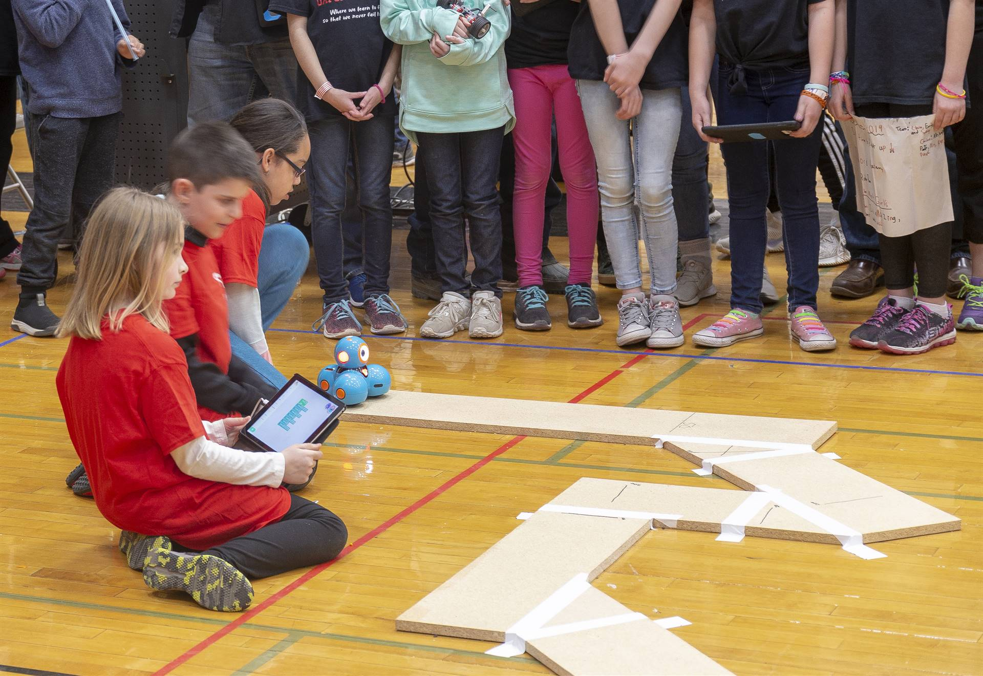 students taking part in robo rave competition 13