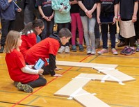 students taking part in robo rave competition 12