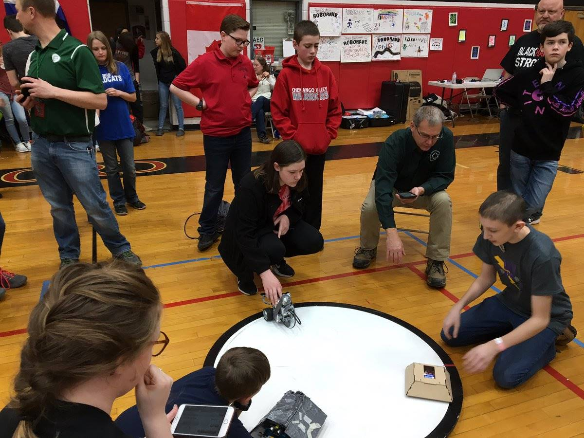students taking part in robo rave competition 11