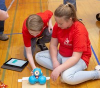 students taking part in robo rave competition 9