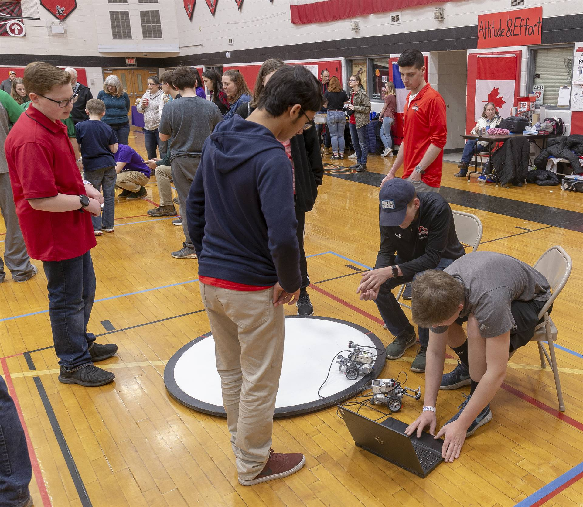 students taking part in robo rave competition 8