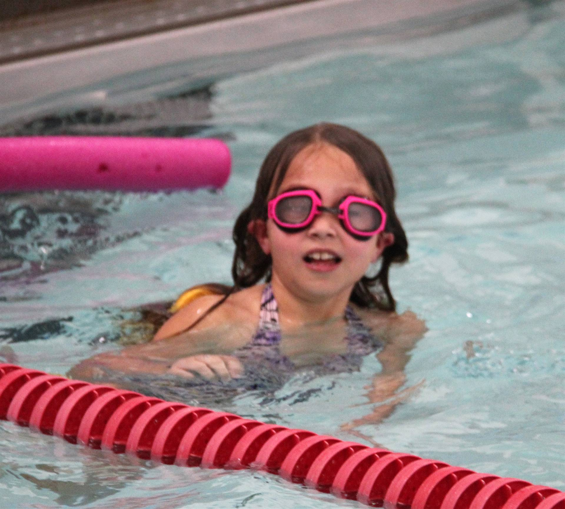 Port Dickinson Elementary students taking part in swim unit 15