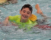 Port Dickinson Elementary students taking part in swim unit 14
