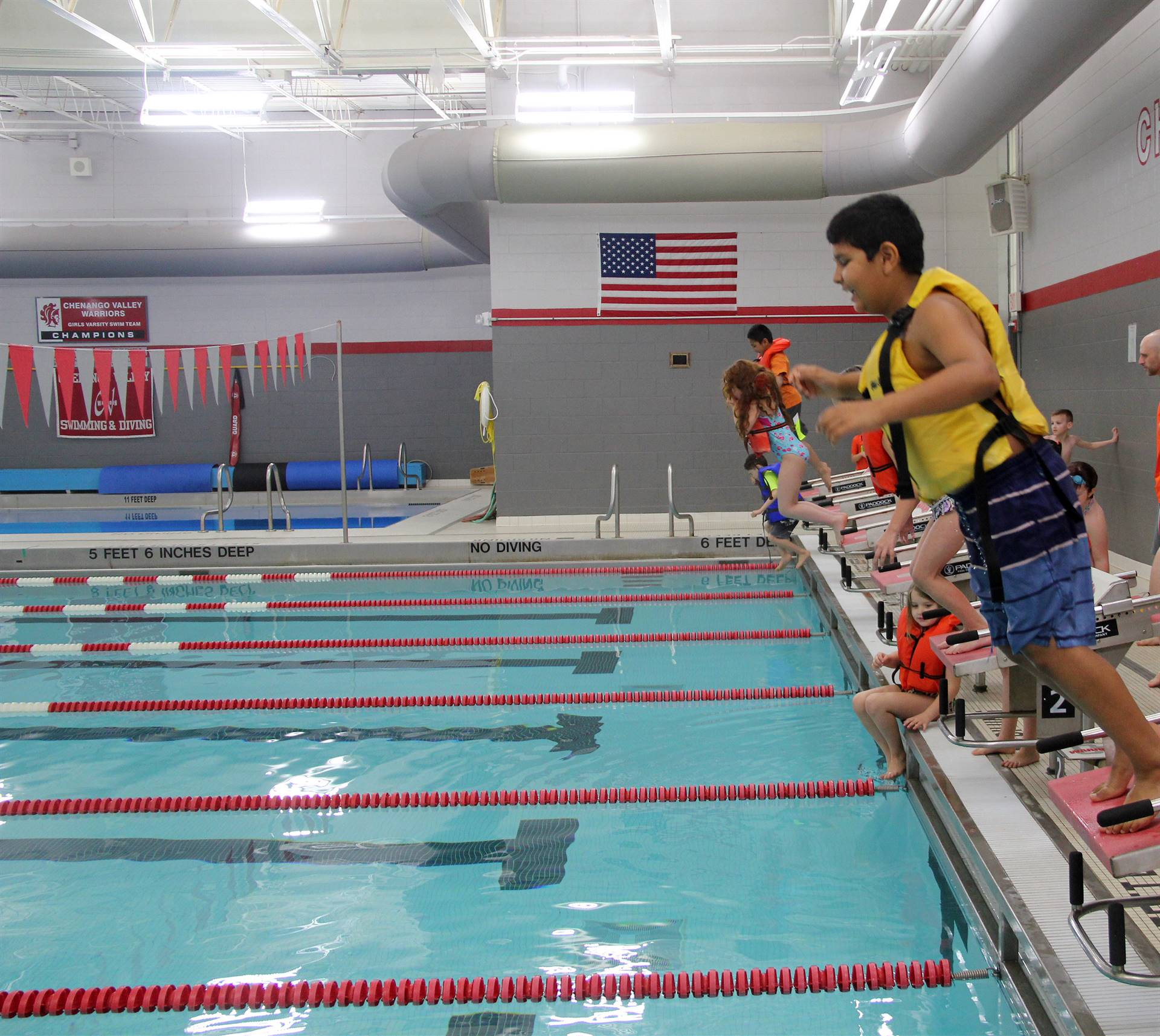 Port Dickinson Elementary students taking part in swim unit 8