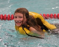 Port Dickinson Elementary students taking part in swim unit 7