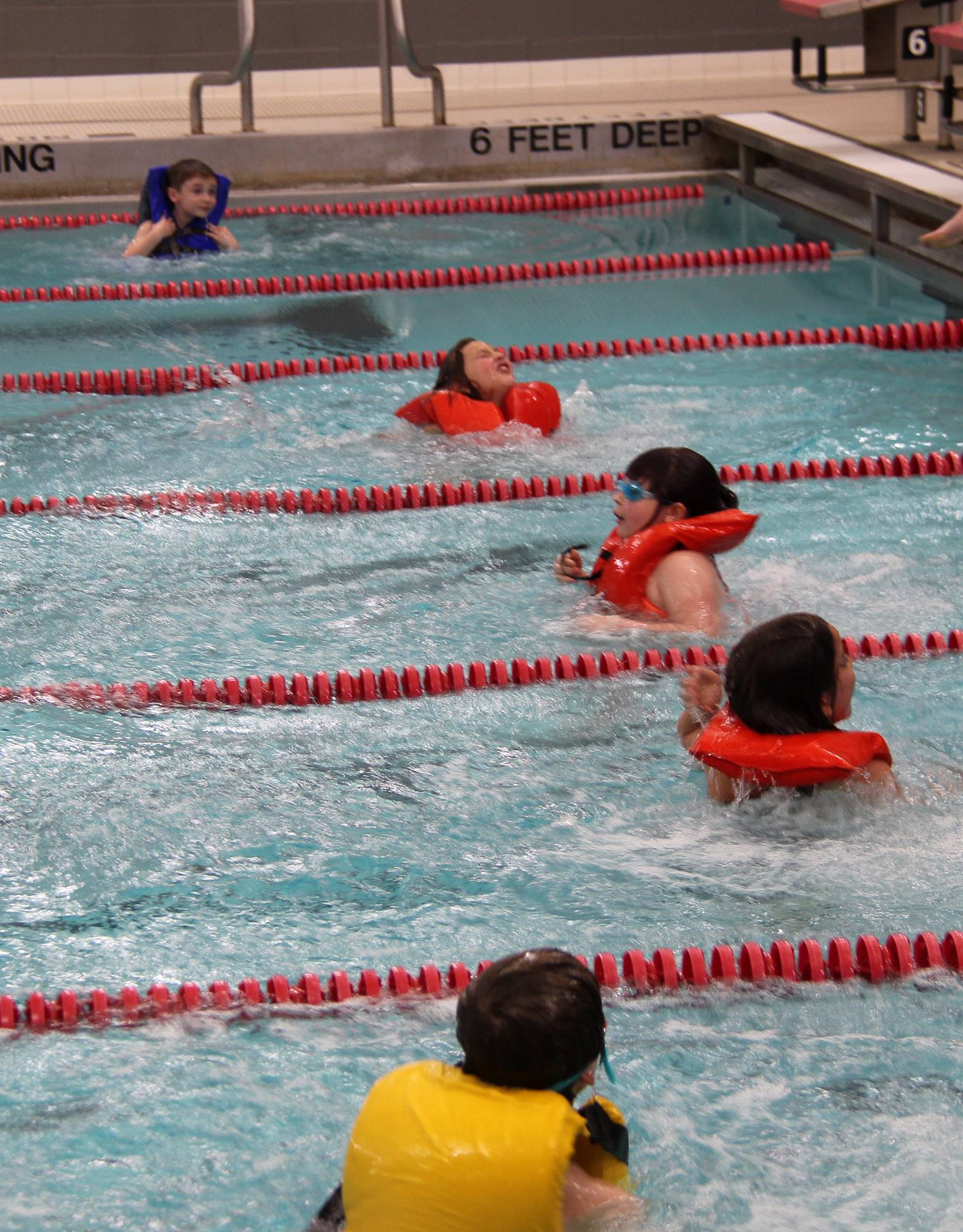 Port Dickinson Elementary students taking part in swim unit 2