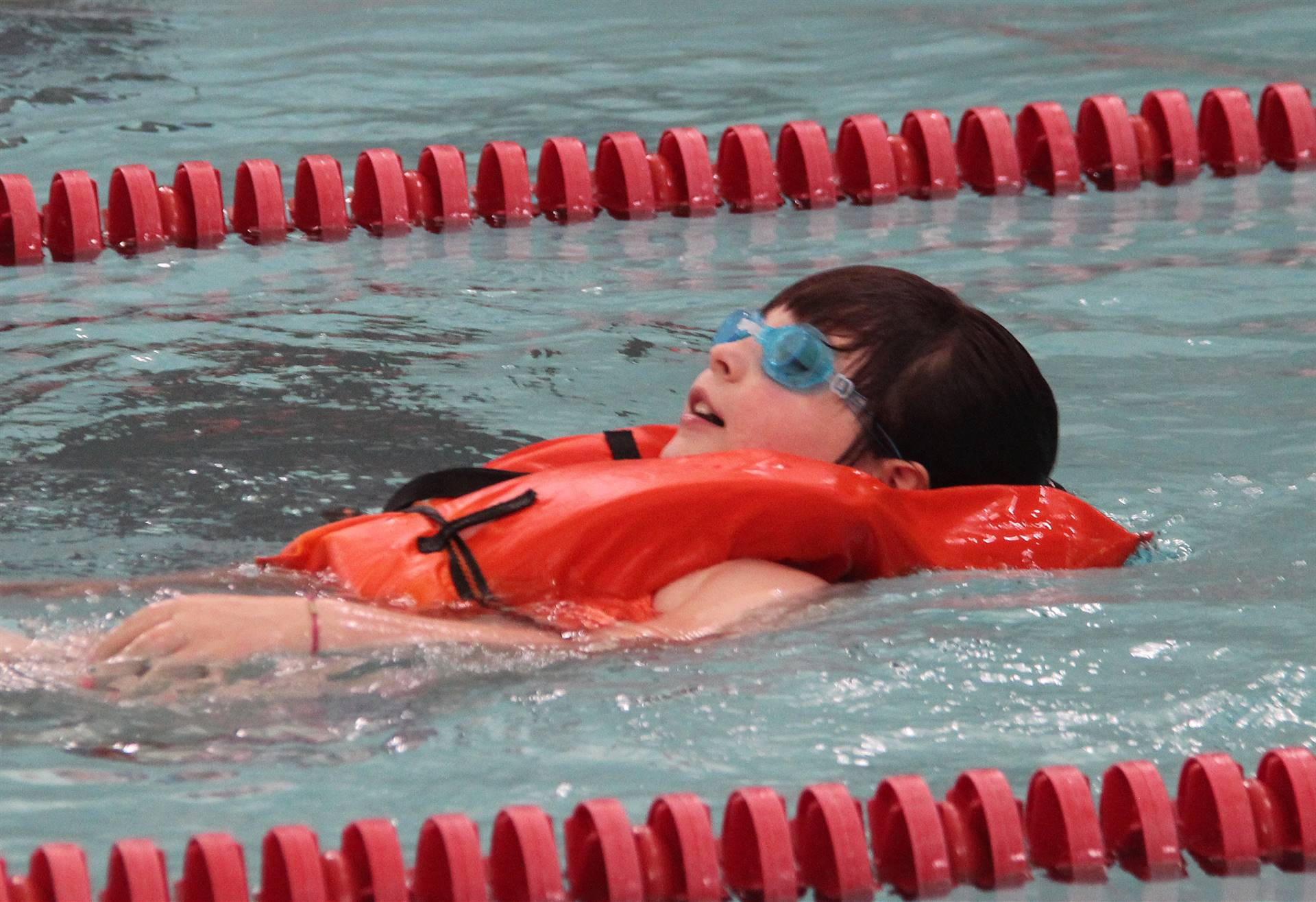 Port Dickinson Elementary students taking part in swim unit 6