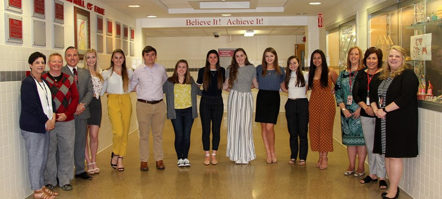 class of 2019 top 10 scholars and chenango valley staff members