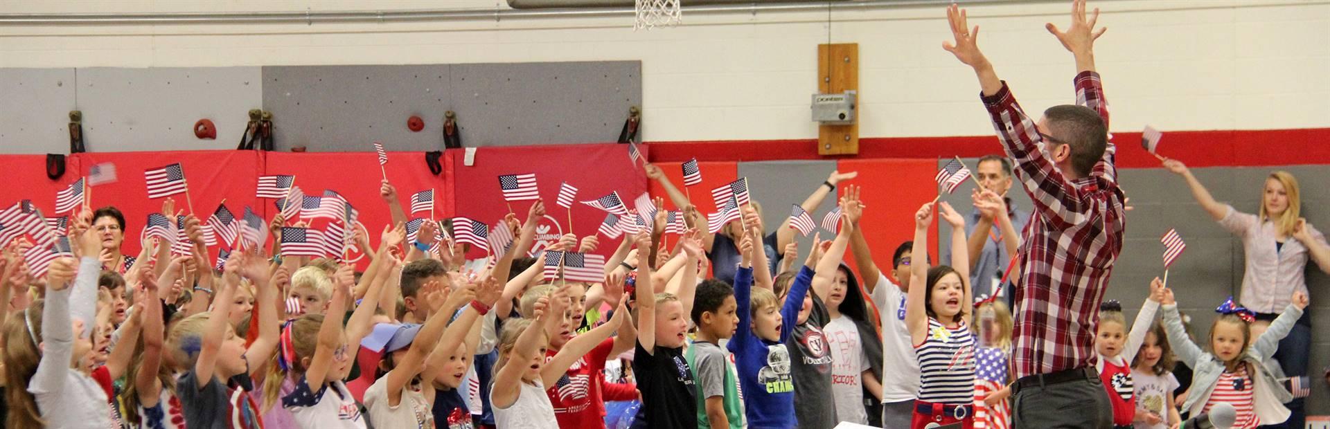 Port Dickinson Elementary Flag Day Ceremony Photo 49