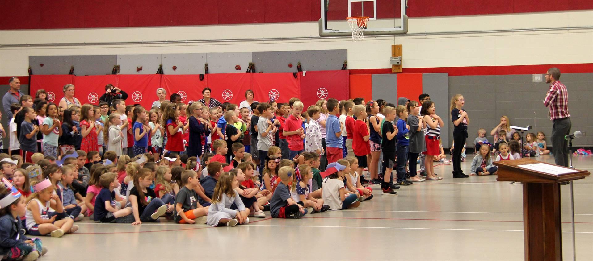 Port Dickinson Elementary Flag Day Ceremony Photo 44