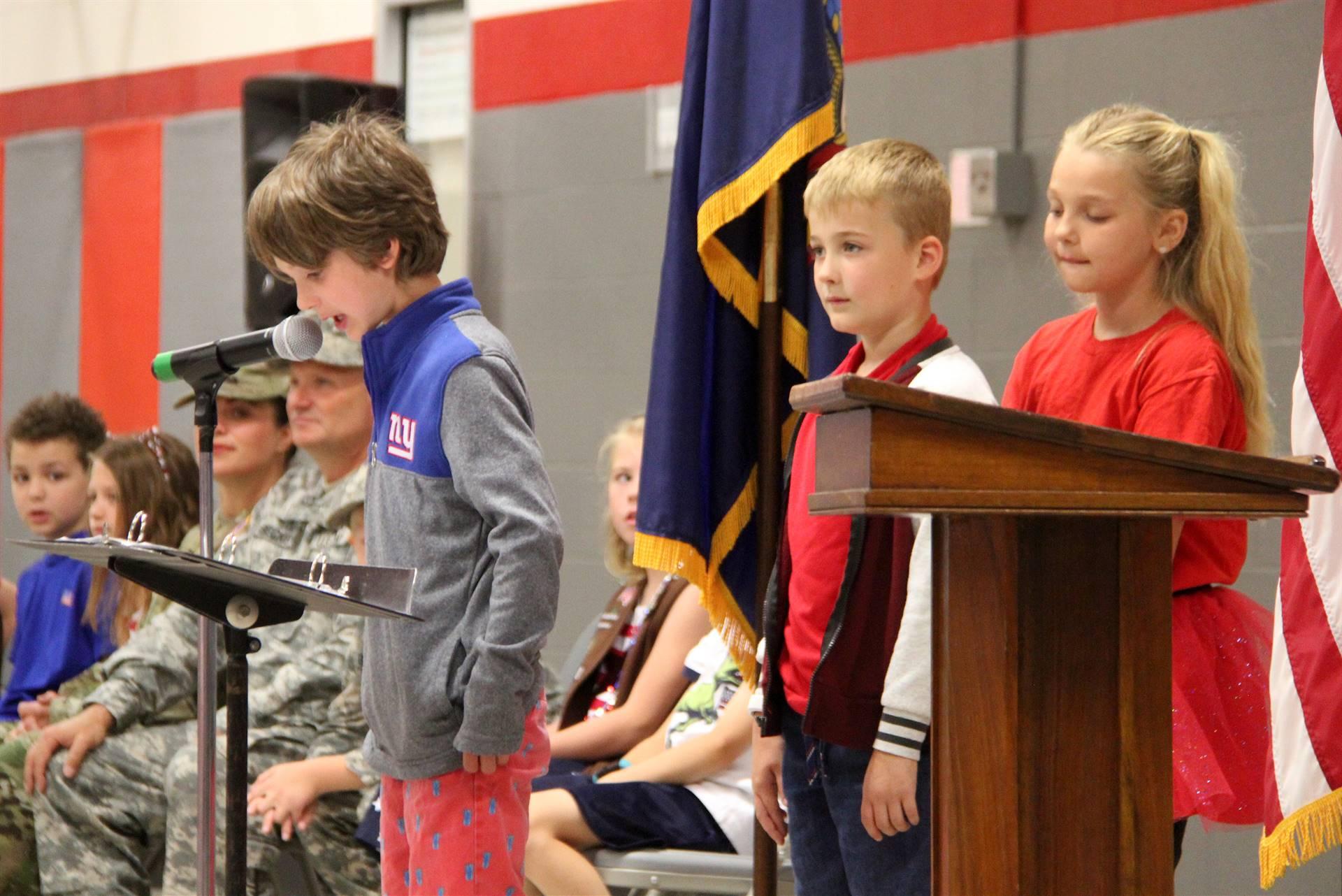 Port Dickinson Elementary Flag Day Ceremony Photo 37