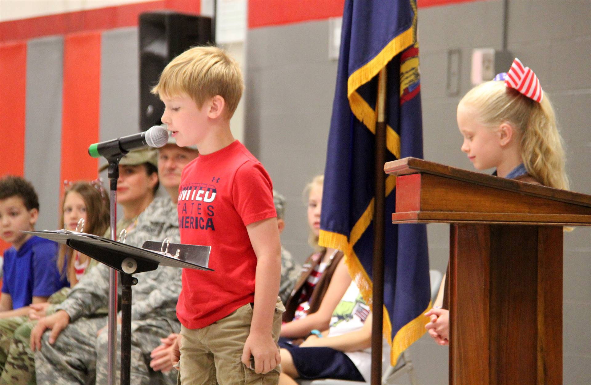 Port Dickinson Elementary Flag Day Ceremony Photo 33