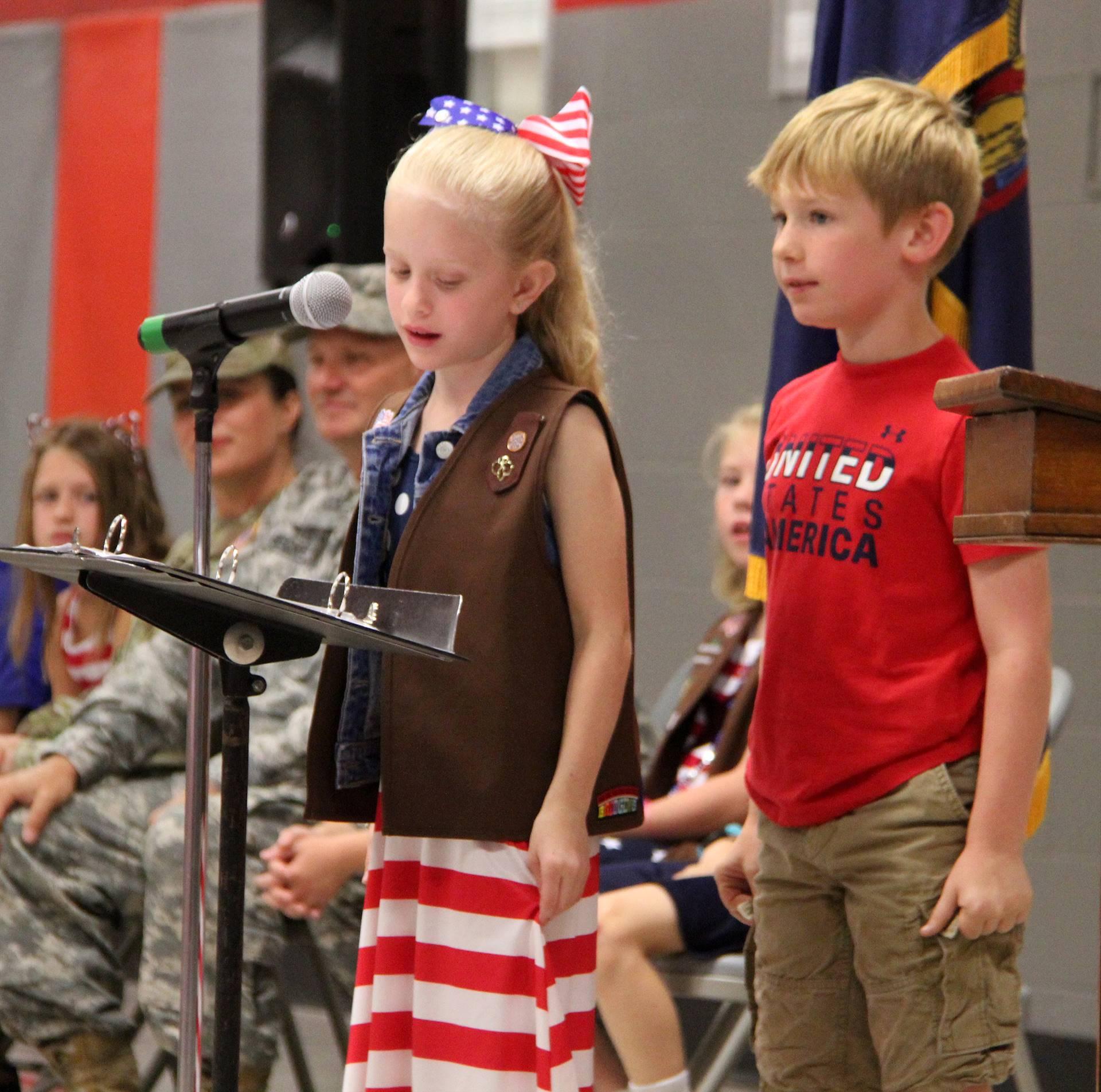 Port Dickinson Elementary Flag Day Ceremony Photo 32