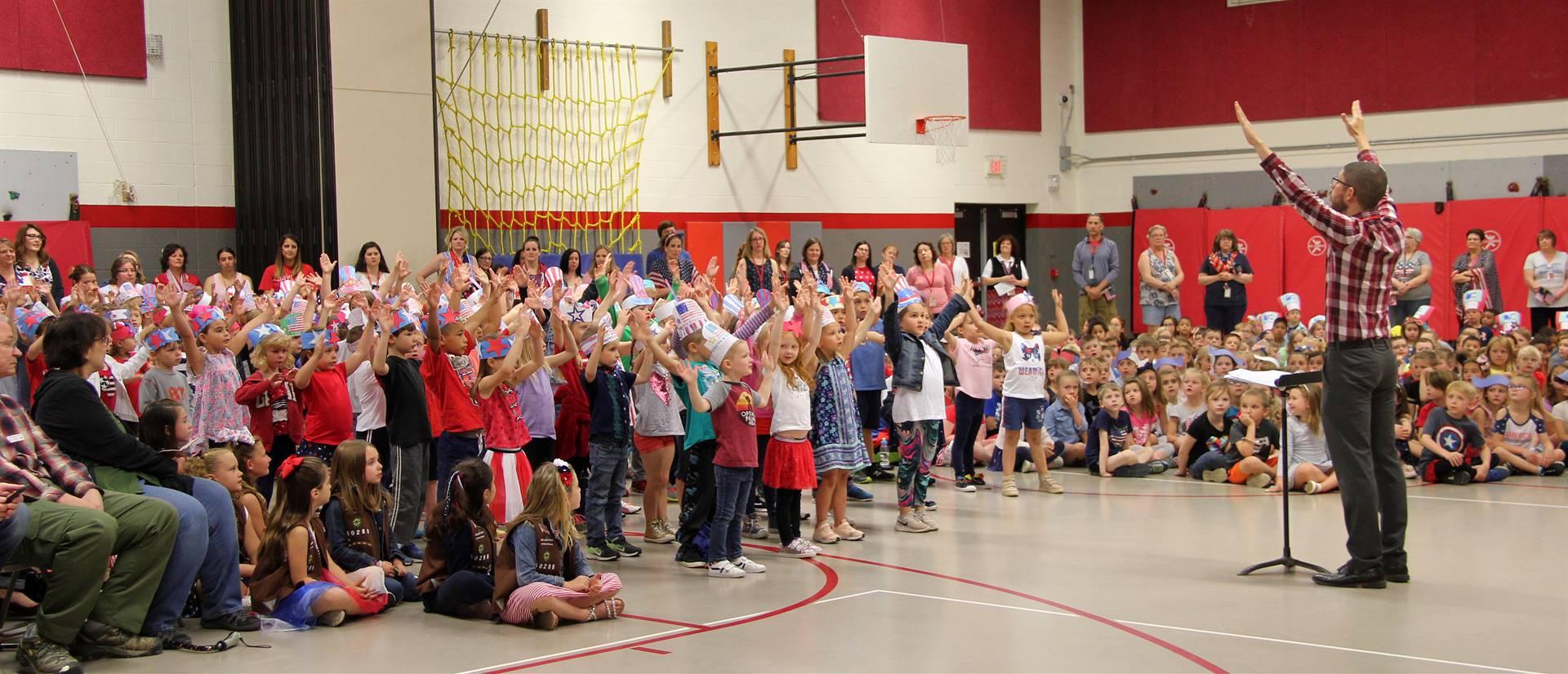 Port Dickinson Elementary Flag Day Ceremony Photo 27