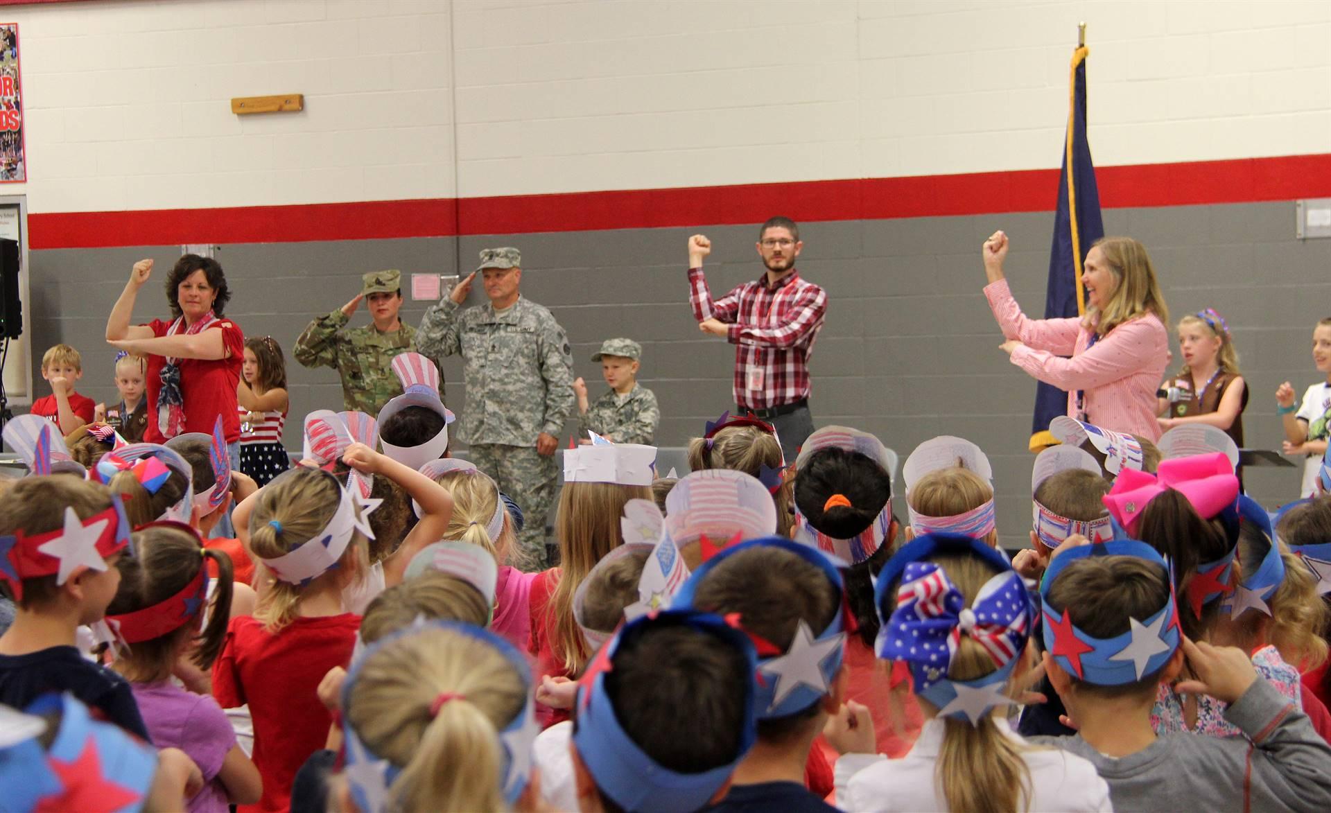 Port Dickinson Elementary Flag Day Ceremony Photo 11