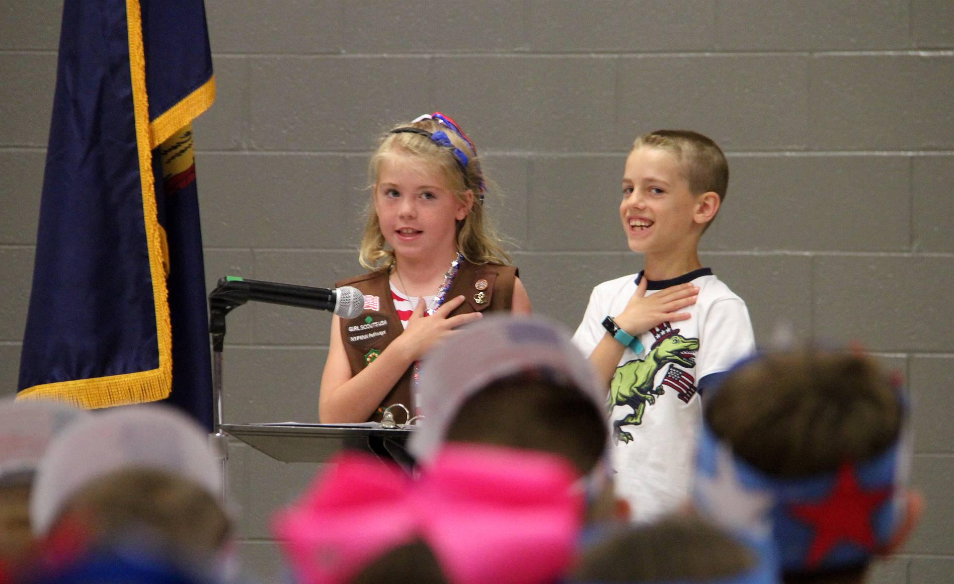 Port Dickinson Elementary Flag Day Ceremony Photo 8