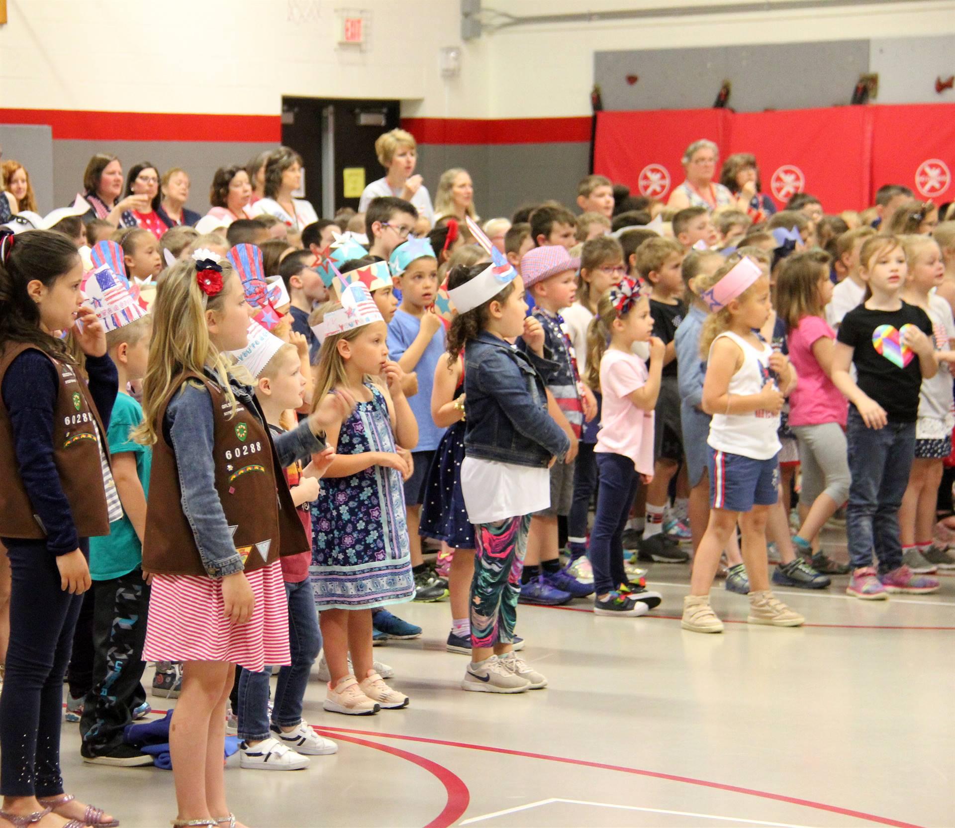 Port Dickinson Elementary Flag Day Ceremony Photo 24