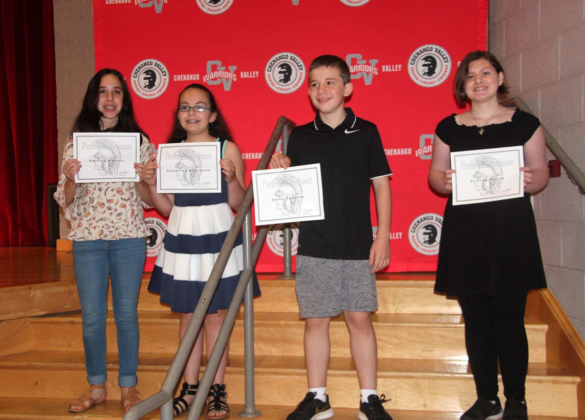 Sixth and seventh grade awards 50