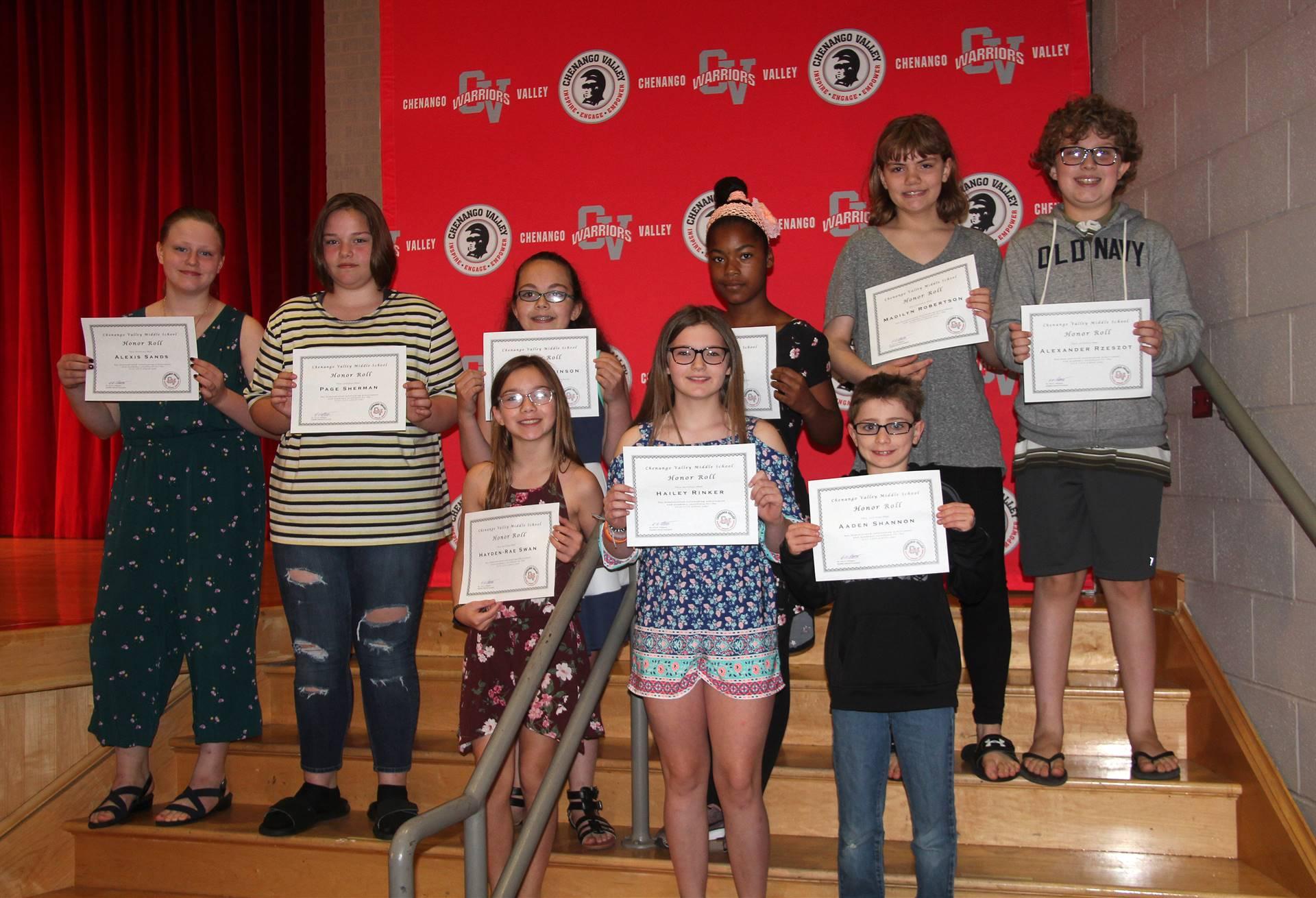Sixth and seventh grade awards 46