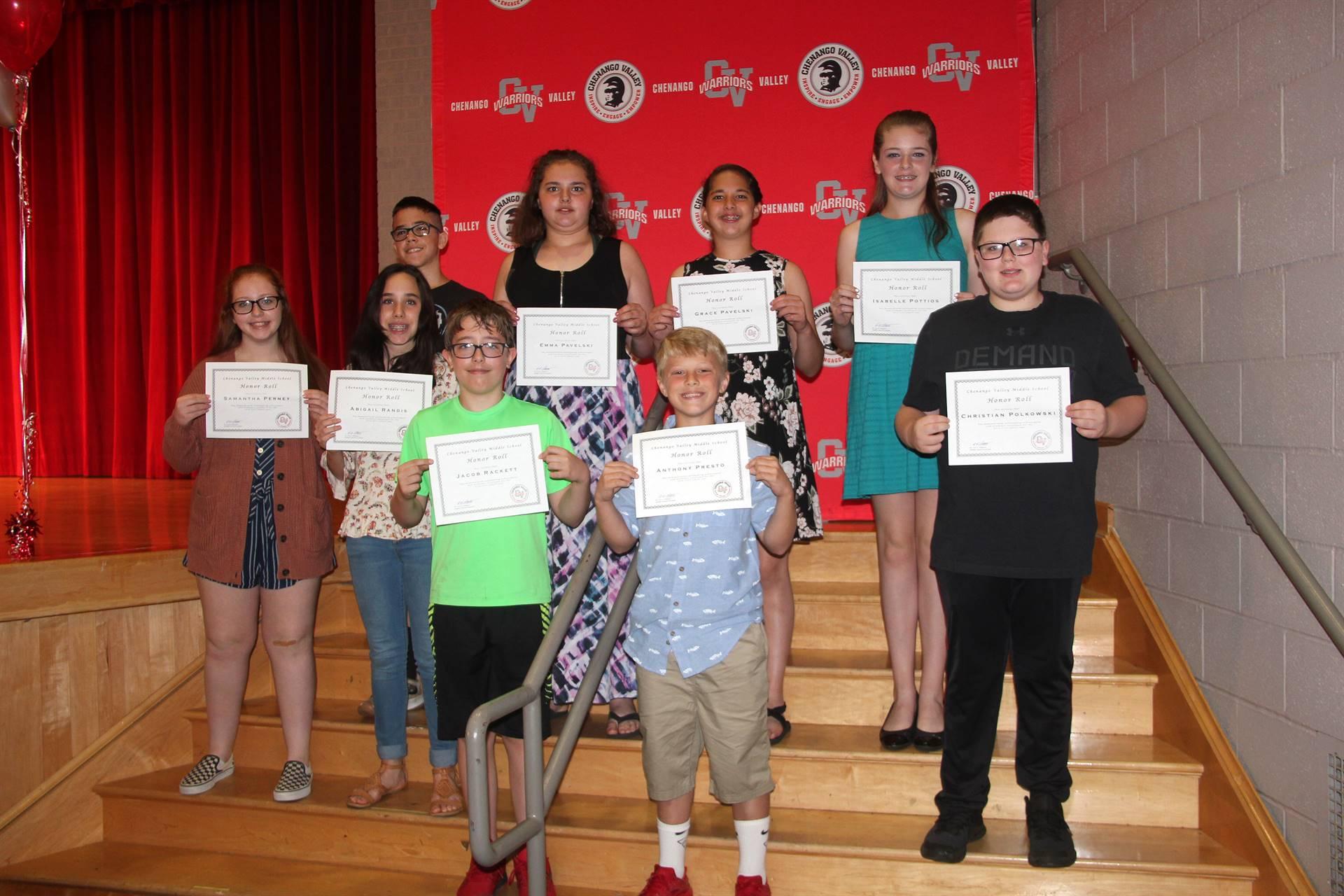 Sixth and seventh grade awards 45