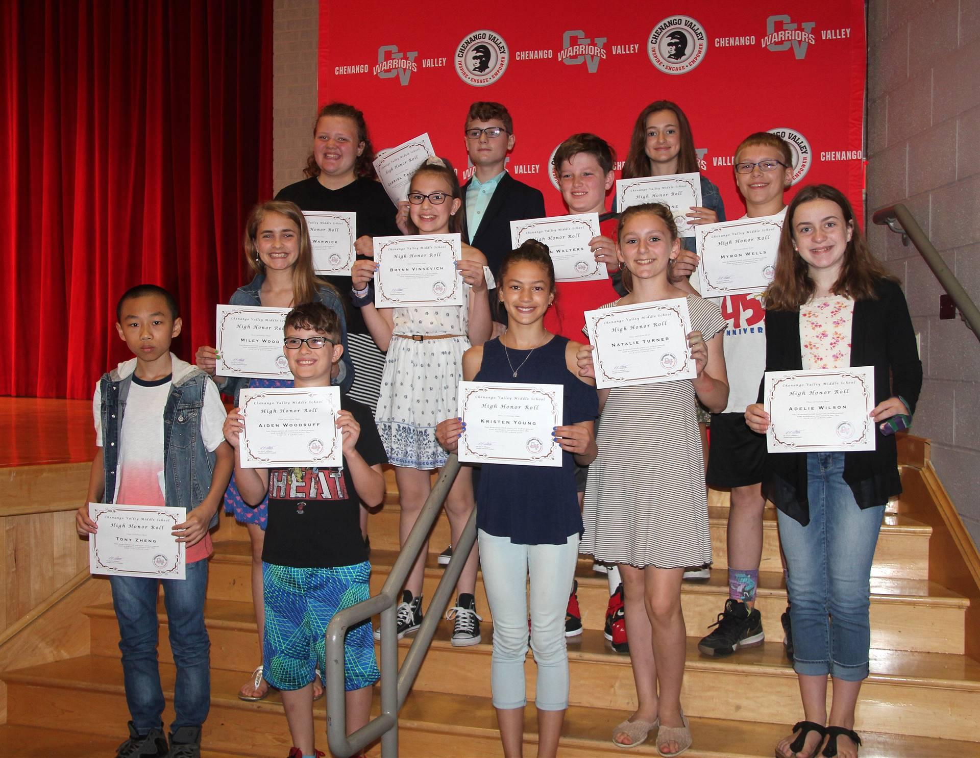 Sixth and seventh grade awards 38