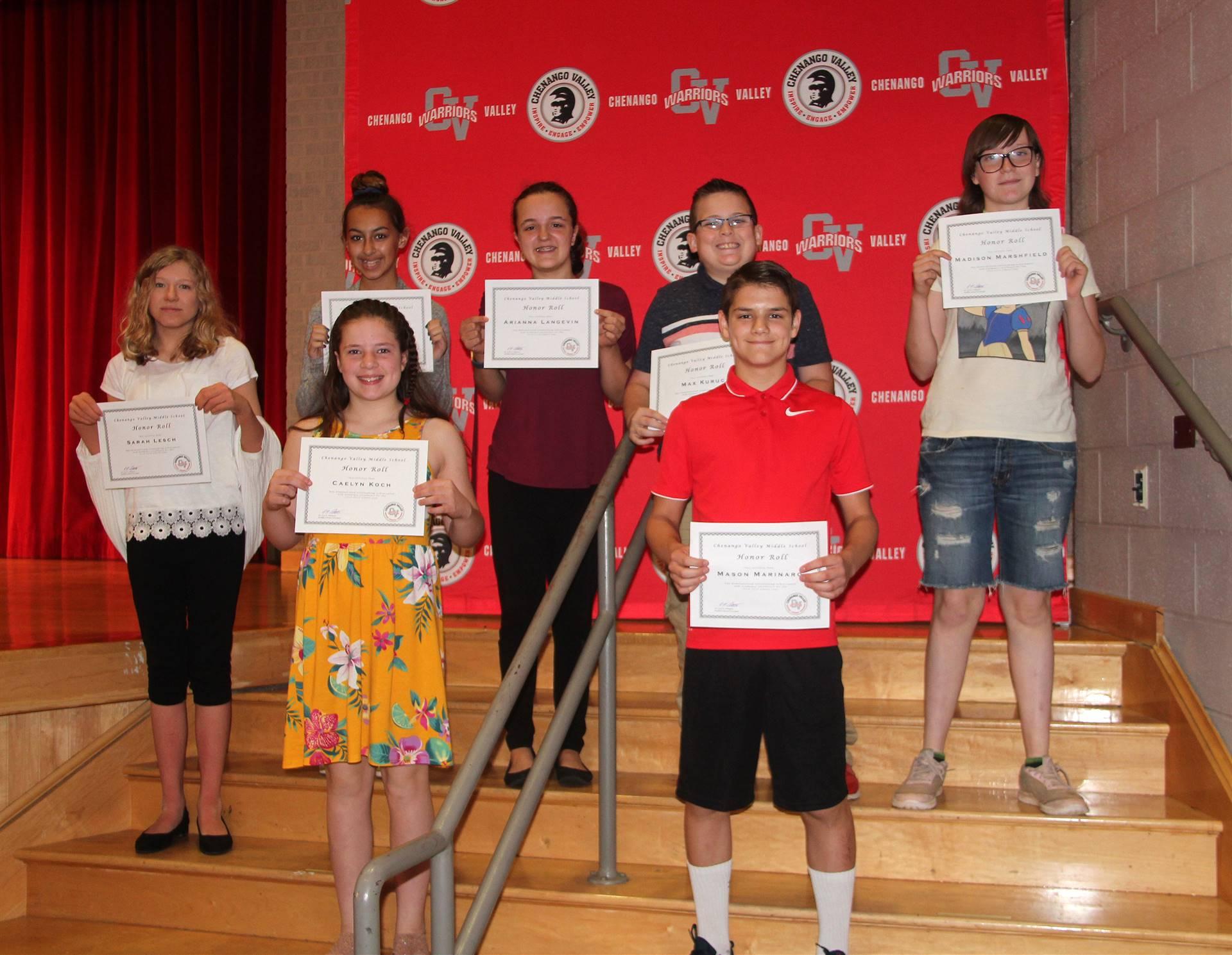 Sixth and seventh grade awards 43