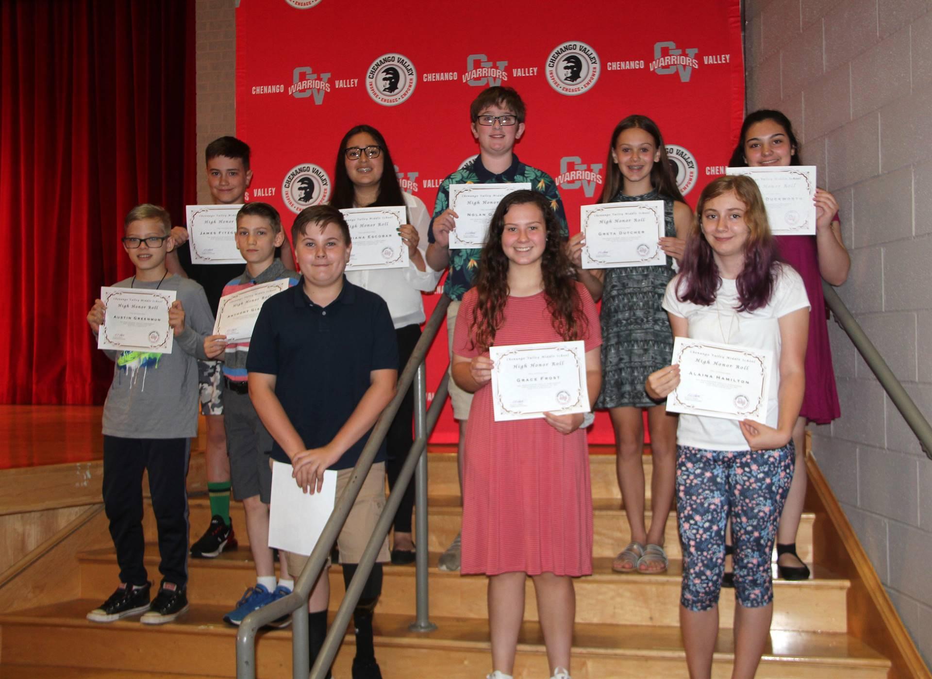 Sixth and seventh grade awards 33