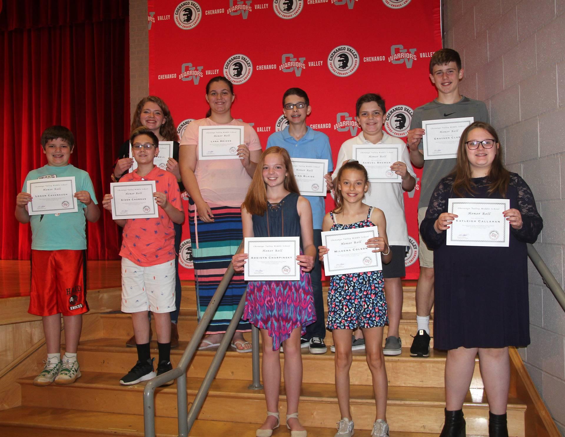 Sixth and seventh grade awards 40