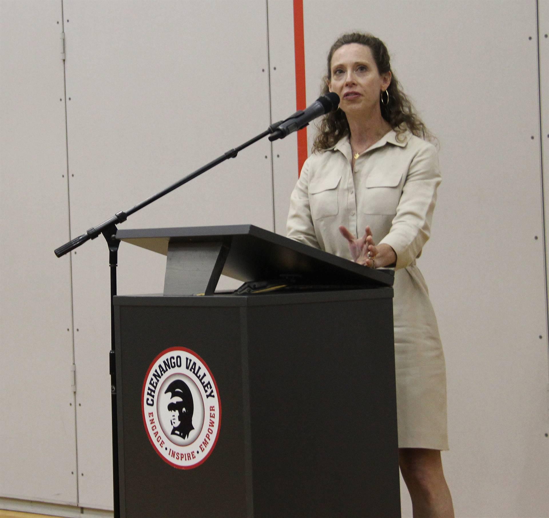 Chenango Valley Athletic Club President Speaking