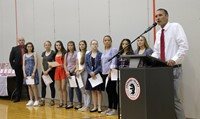 junior varsity girls soccer team members and coach