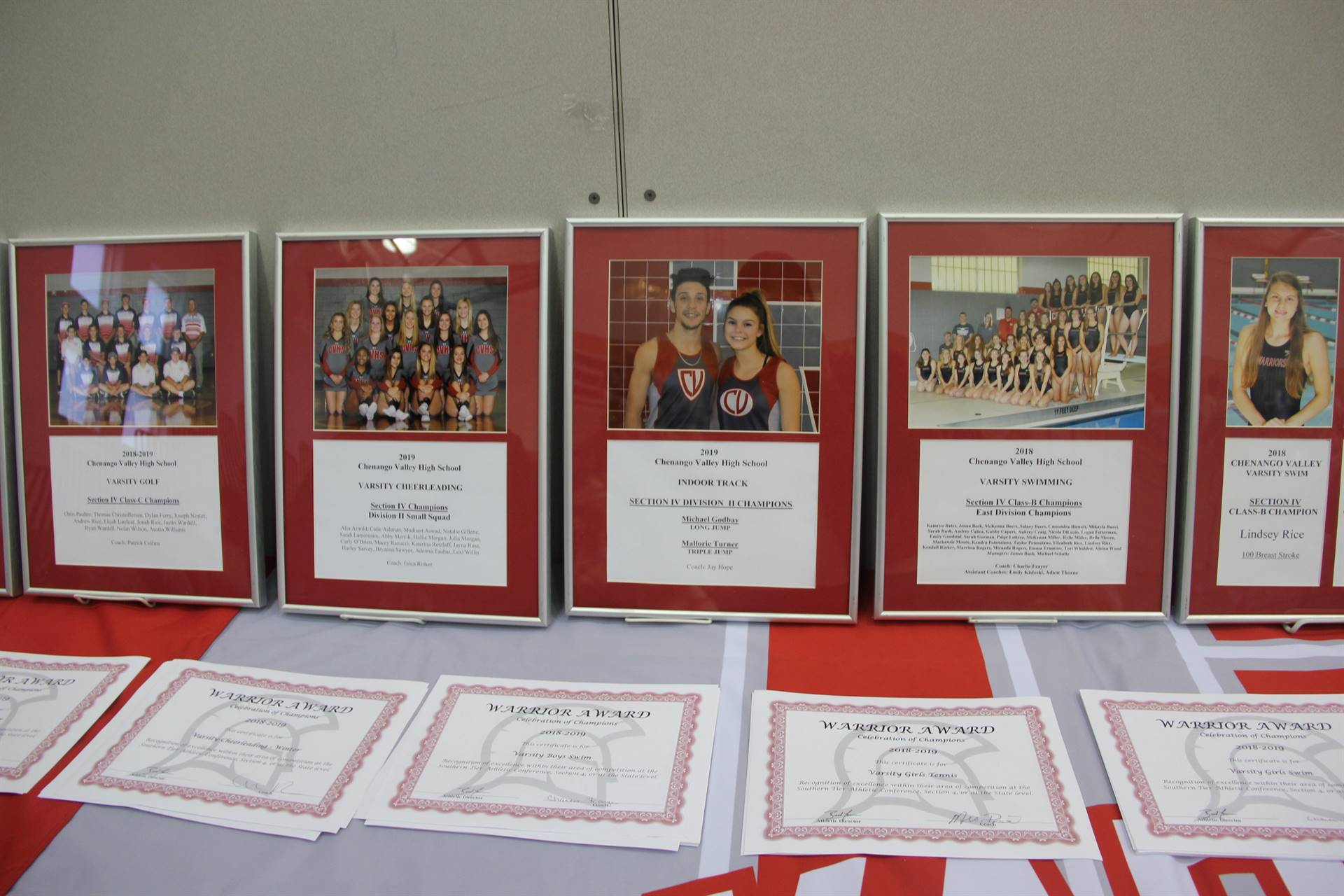 athletes award plaques