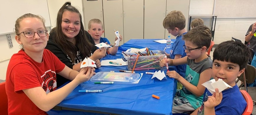 students participating in combined civic summer fun