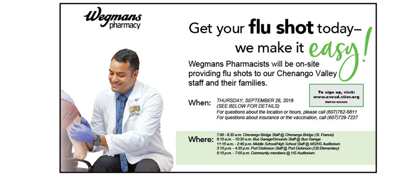 flu shot clinic web slide show flyer