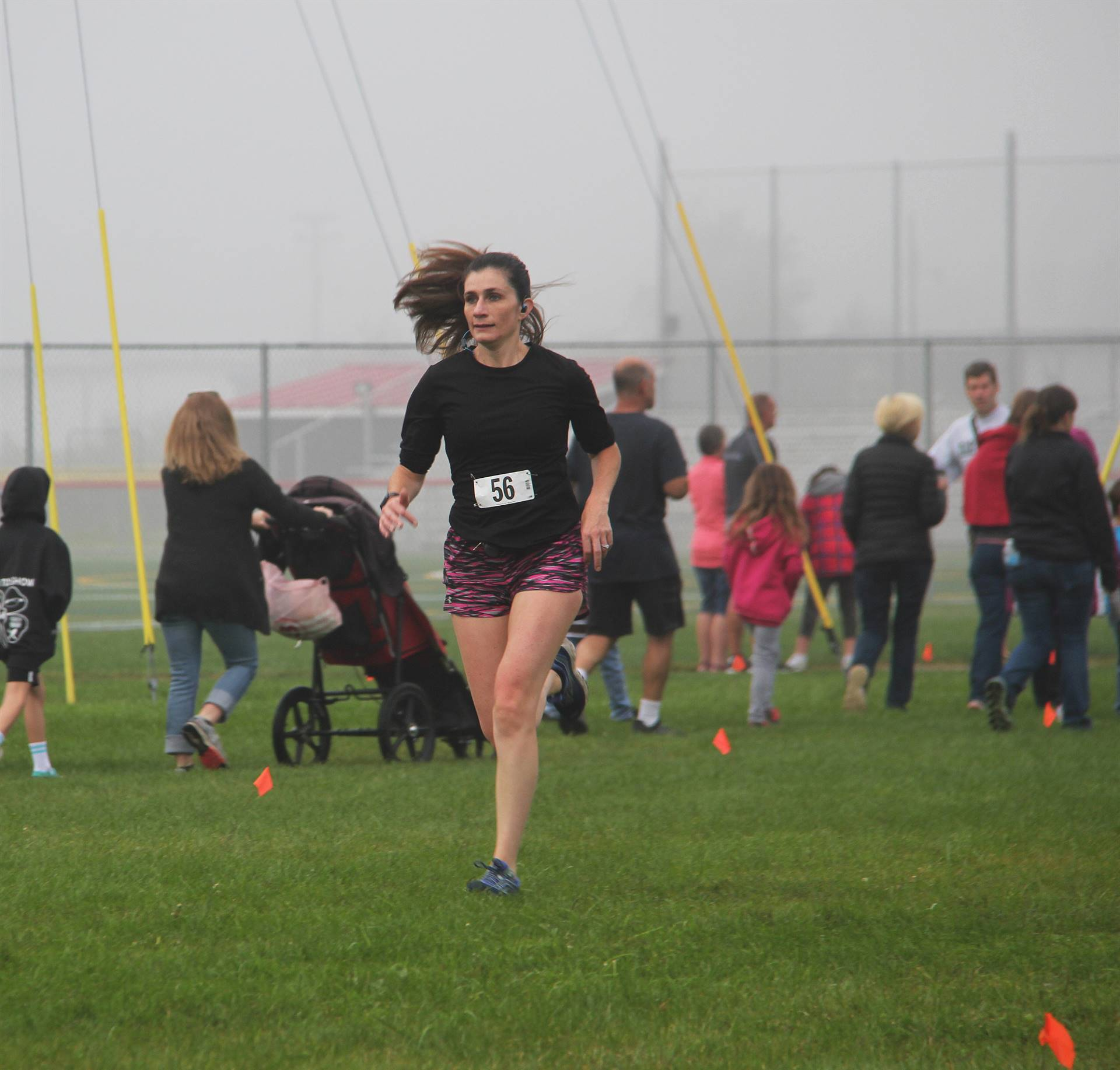 person running at cross country race