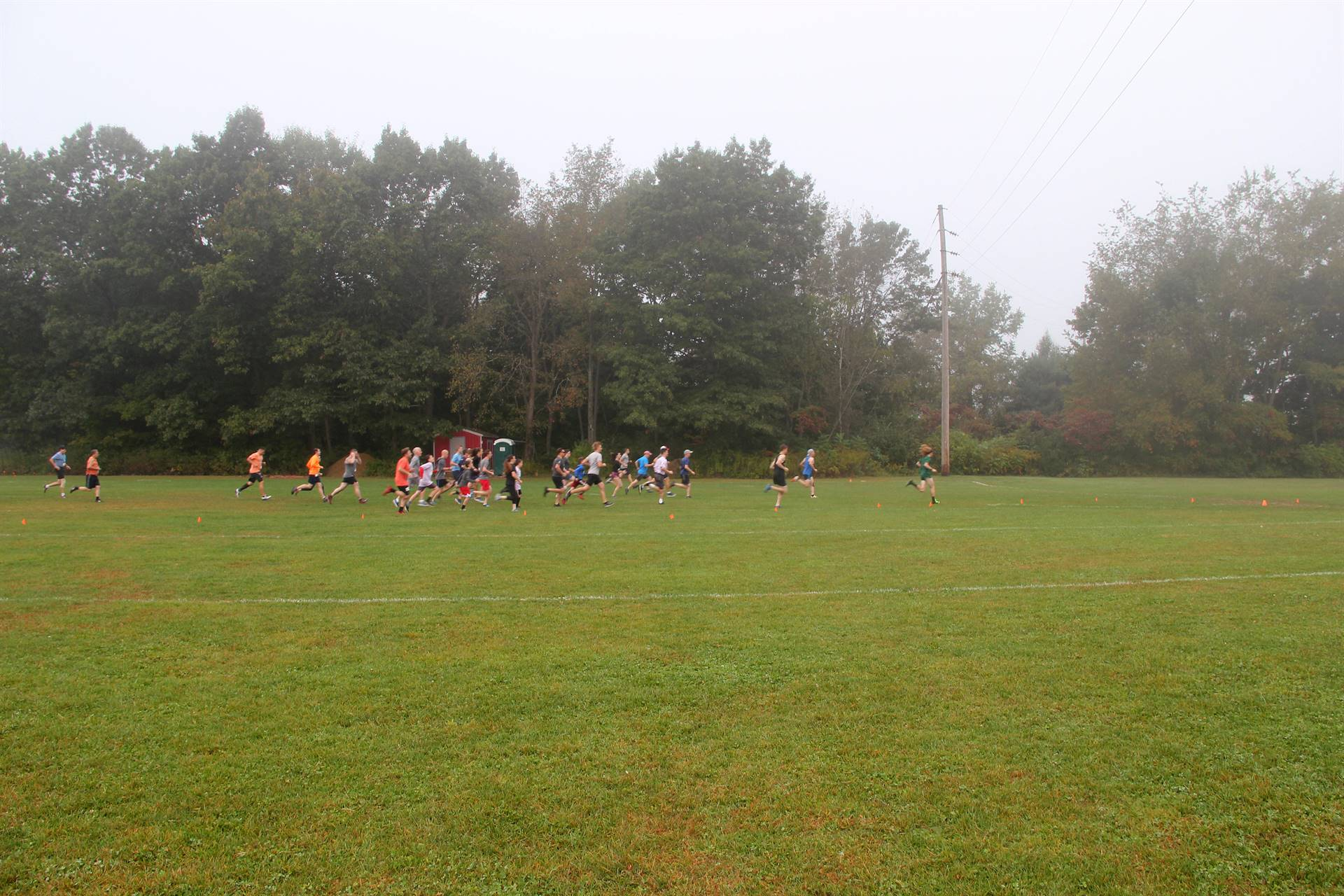 people running at cross country race
