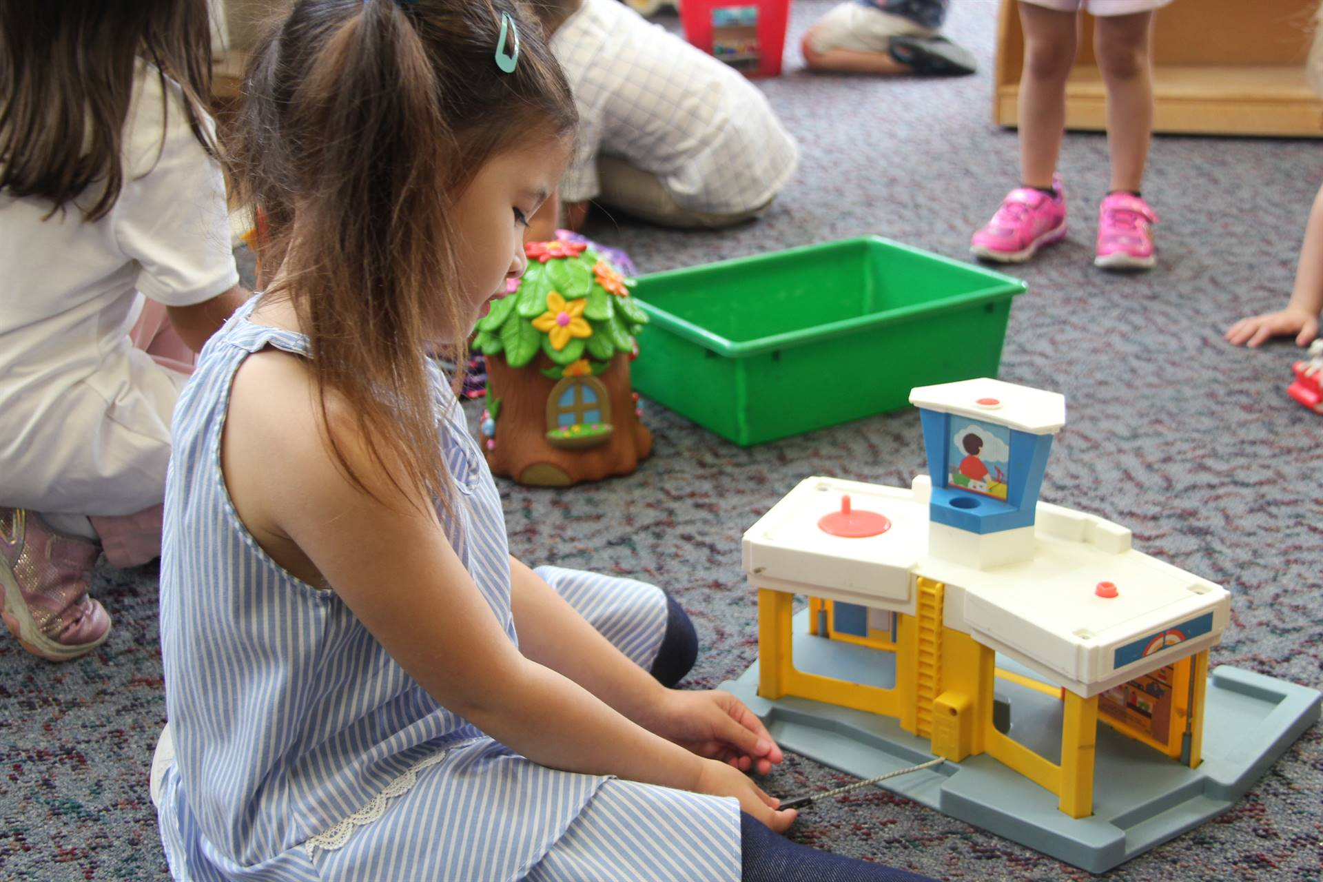 student playing
