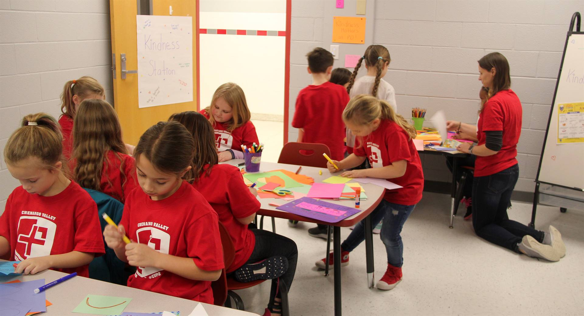port dickinson warriors in kindness station room