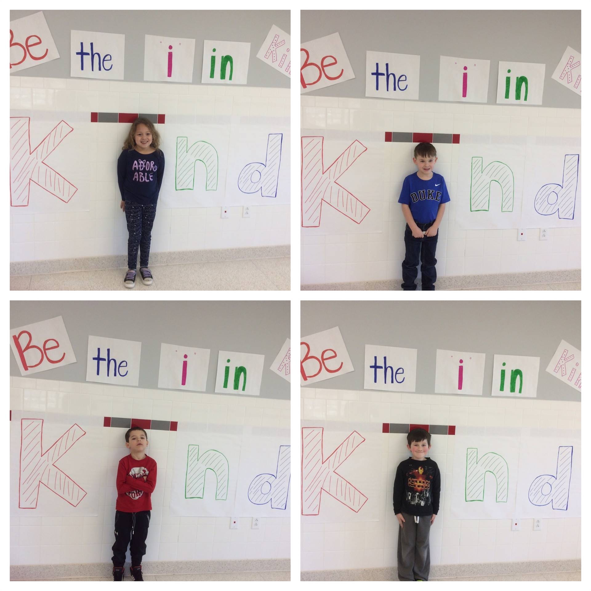 port dickinson students displaying putting the i in kindness 2 of 5