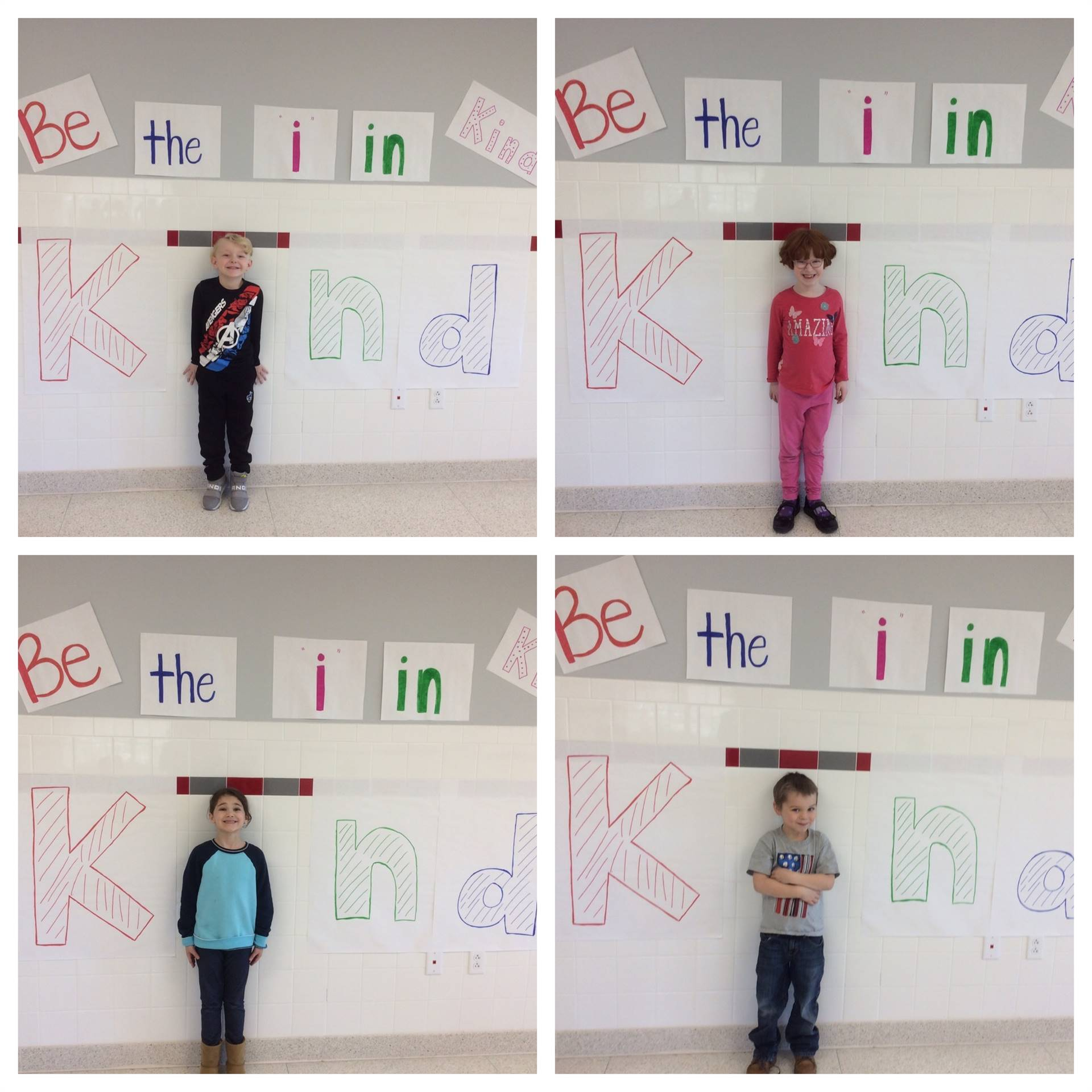 port dickinson students displaying putting the i in kindness 1 of 5