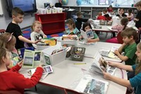students reading in classroom