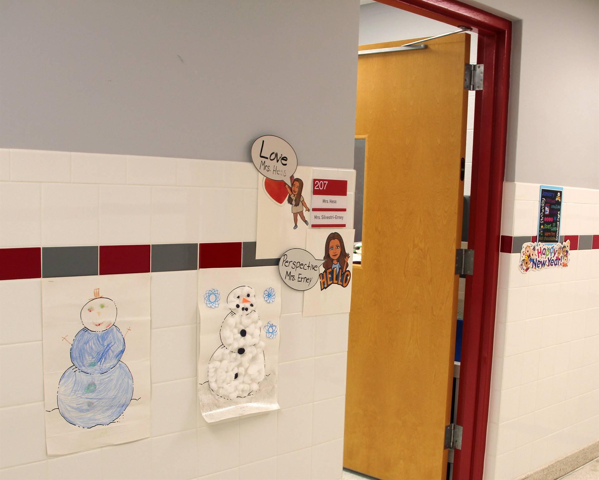 hallway door with artwork