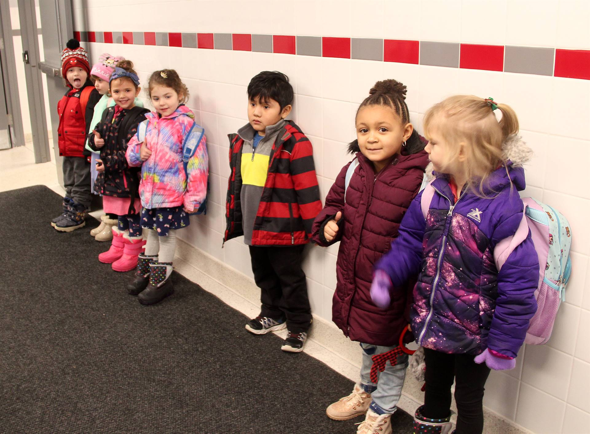 pre school students smiling