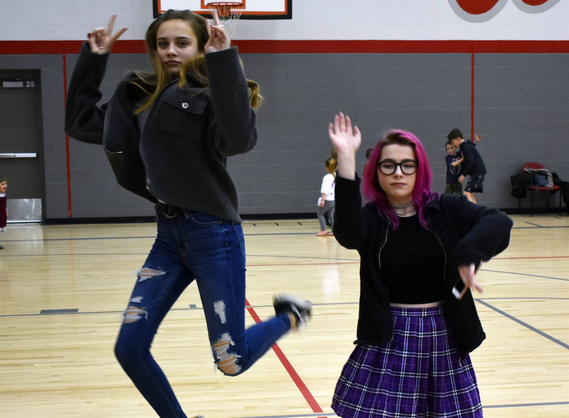 two students at big gifted give event