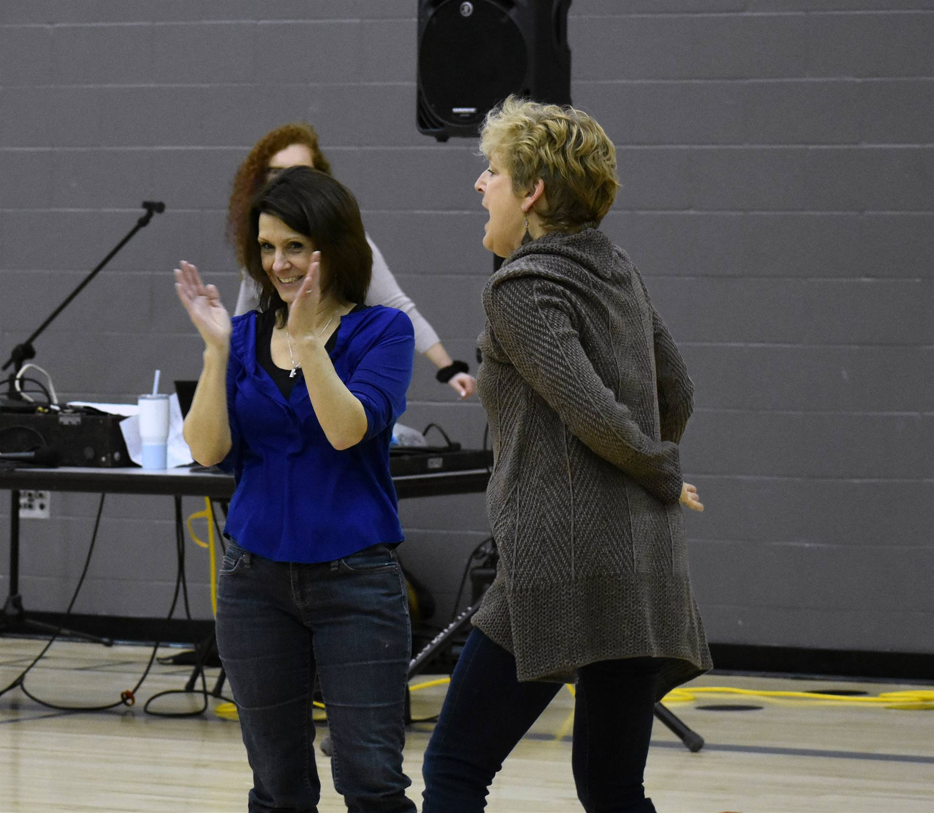 two adults dancing at big gifted give event