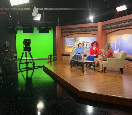 hello dolly cast members being interviewed on around the tiers